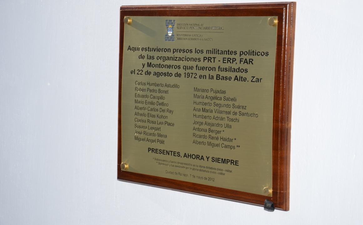 Homenaje a las víctimas de la Masacre de Telew