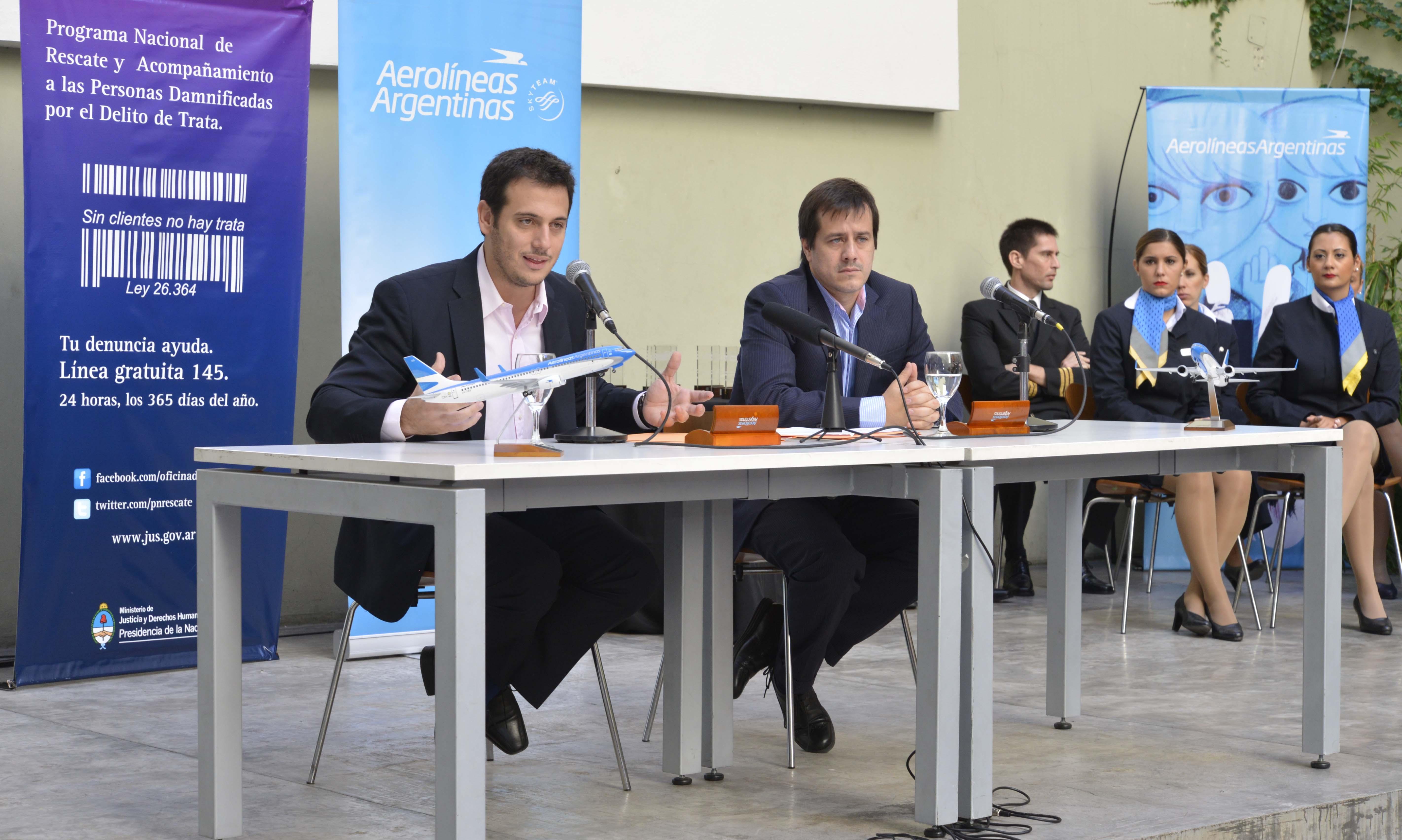 El Ministerio firmó un convenio con Aerolíneas Argentinas para seguir profundizando la lucha contra la Trata