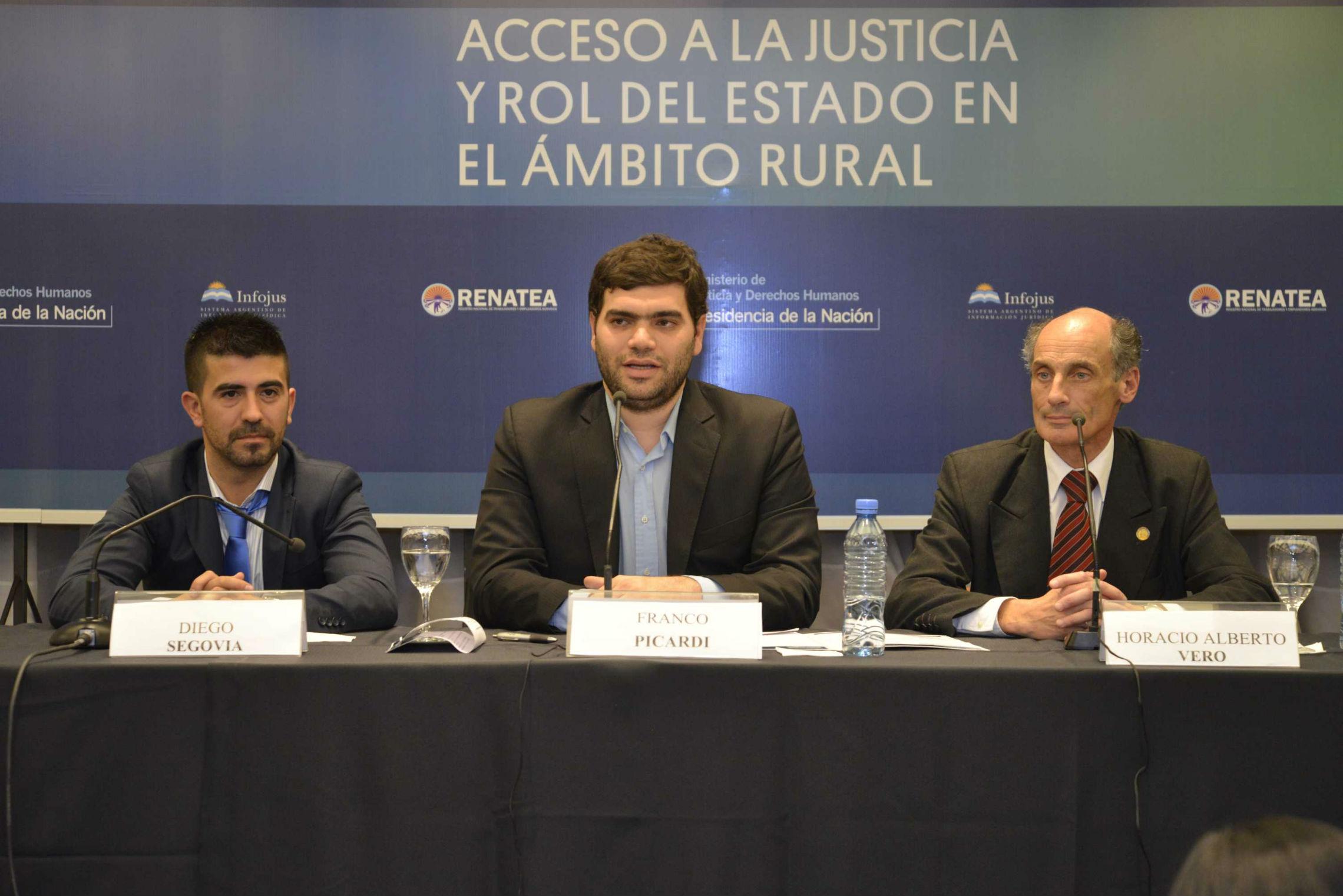 """Franco Picardi: """"El acceso a la justicia es un eje central de nuestra gestión"""""""