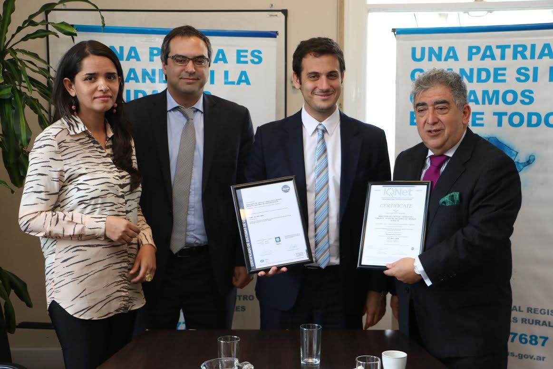El IRAM certificó la gestión del Registro Nacional de Tierras Rurales
