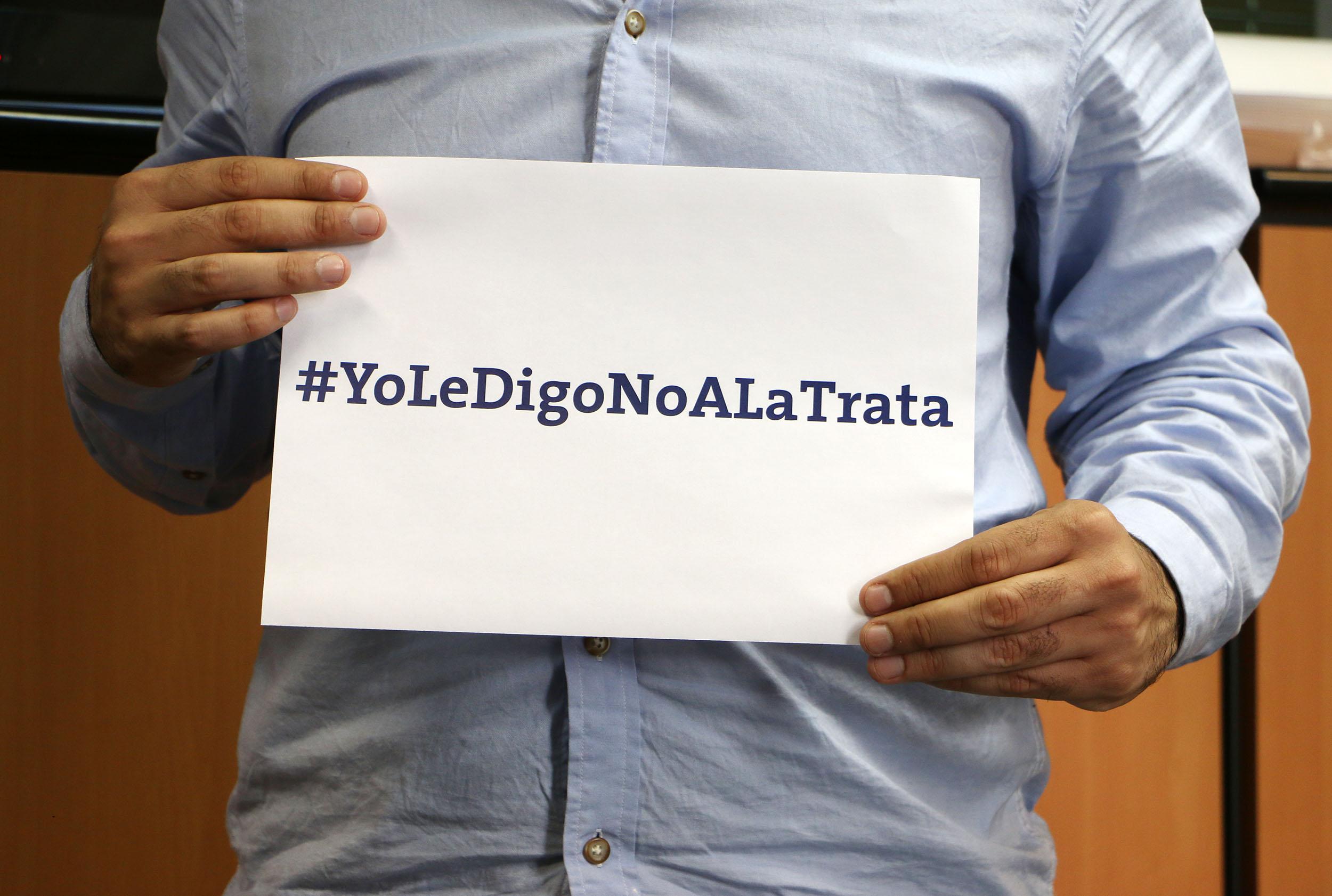 """Artistas, deportistas, referentes sociales y funcionarios se sumaron a la campaña """"Yo le Digo NO a la Trata"""""""