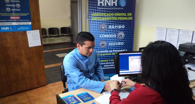 El Registro Nacional de Reincidencia implementó un sistema de turnos web en la sede de San Juan