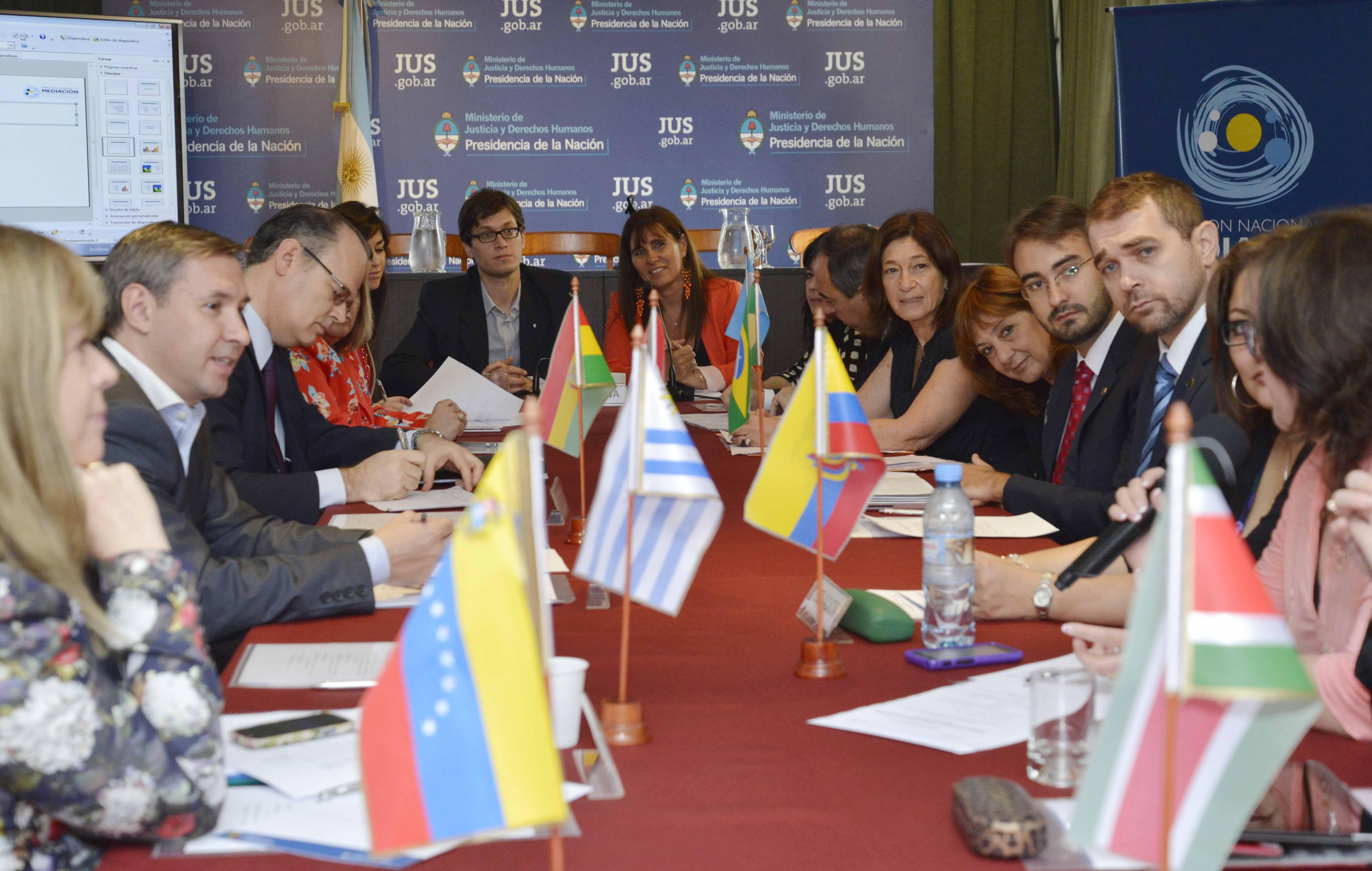 El Ministerio encabezó un seminario sobre mediación con los países del Mercosur