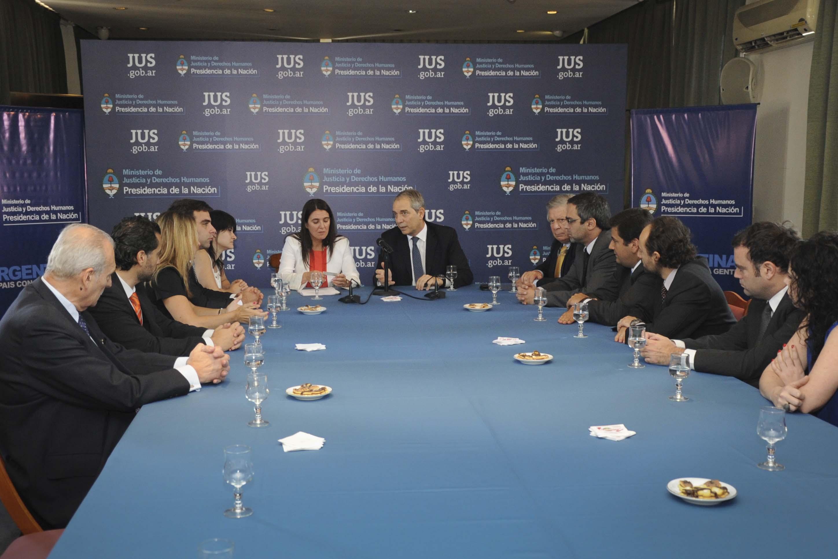 Justicia y Derechos Humanos, y la cartera de Seguridad, crearon una red de intercambio de información para prevenir el delito