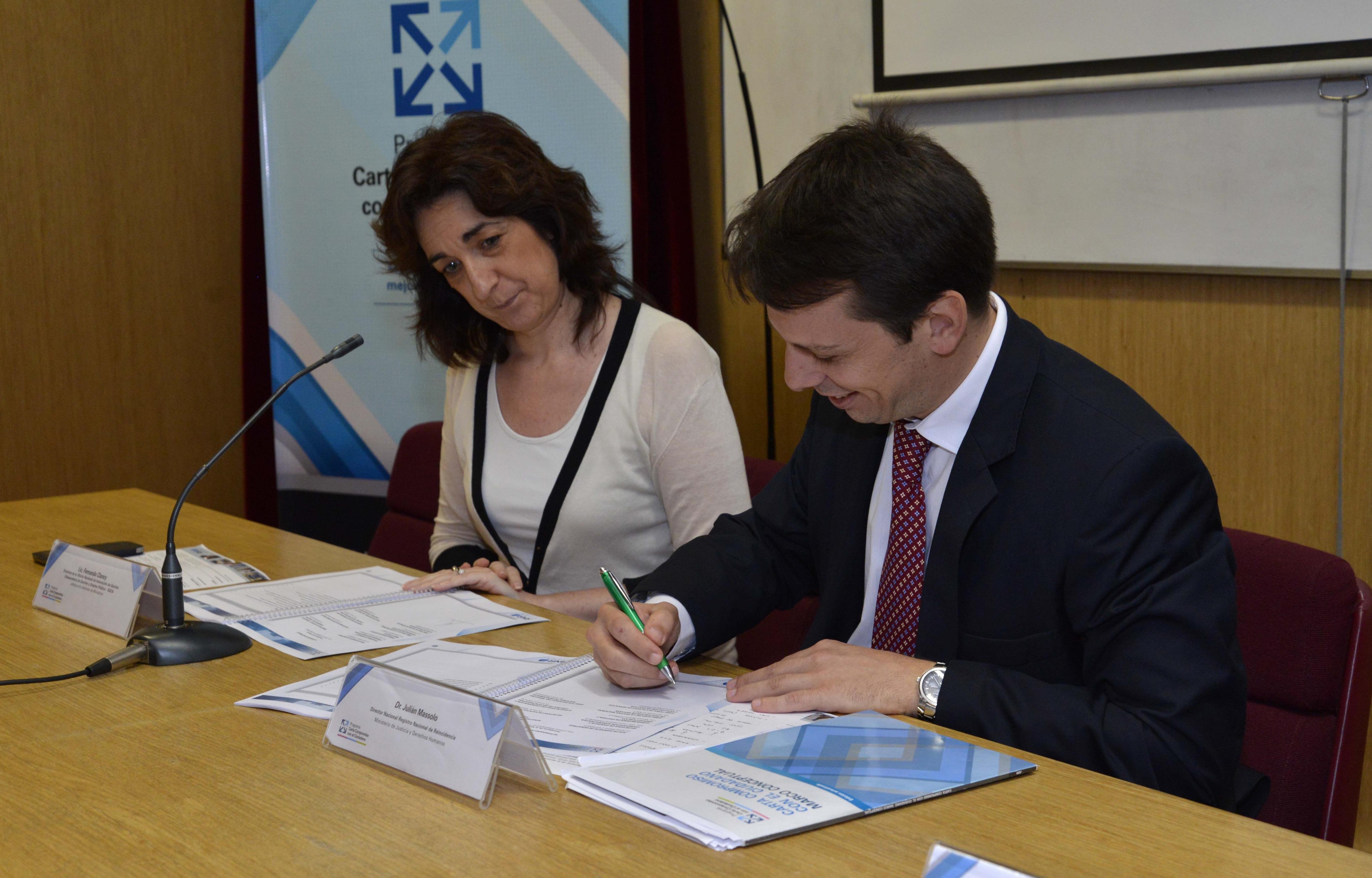 El Registro Nacional de Reincidencia firmó una nueva Carta Compromiso con el Ciudadano