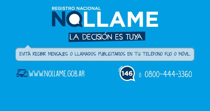 El Ministerio lanzó el Registro Nacional No Llame
