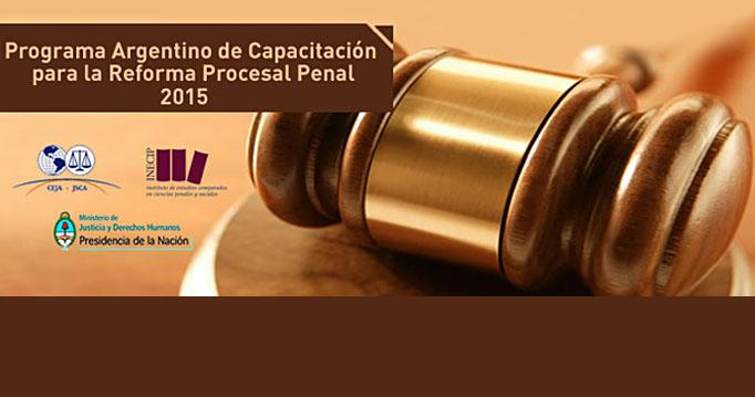 Está abierta la inscripción para el Programa Argentino de Capacitación para la Reforma Procesal Penal