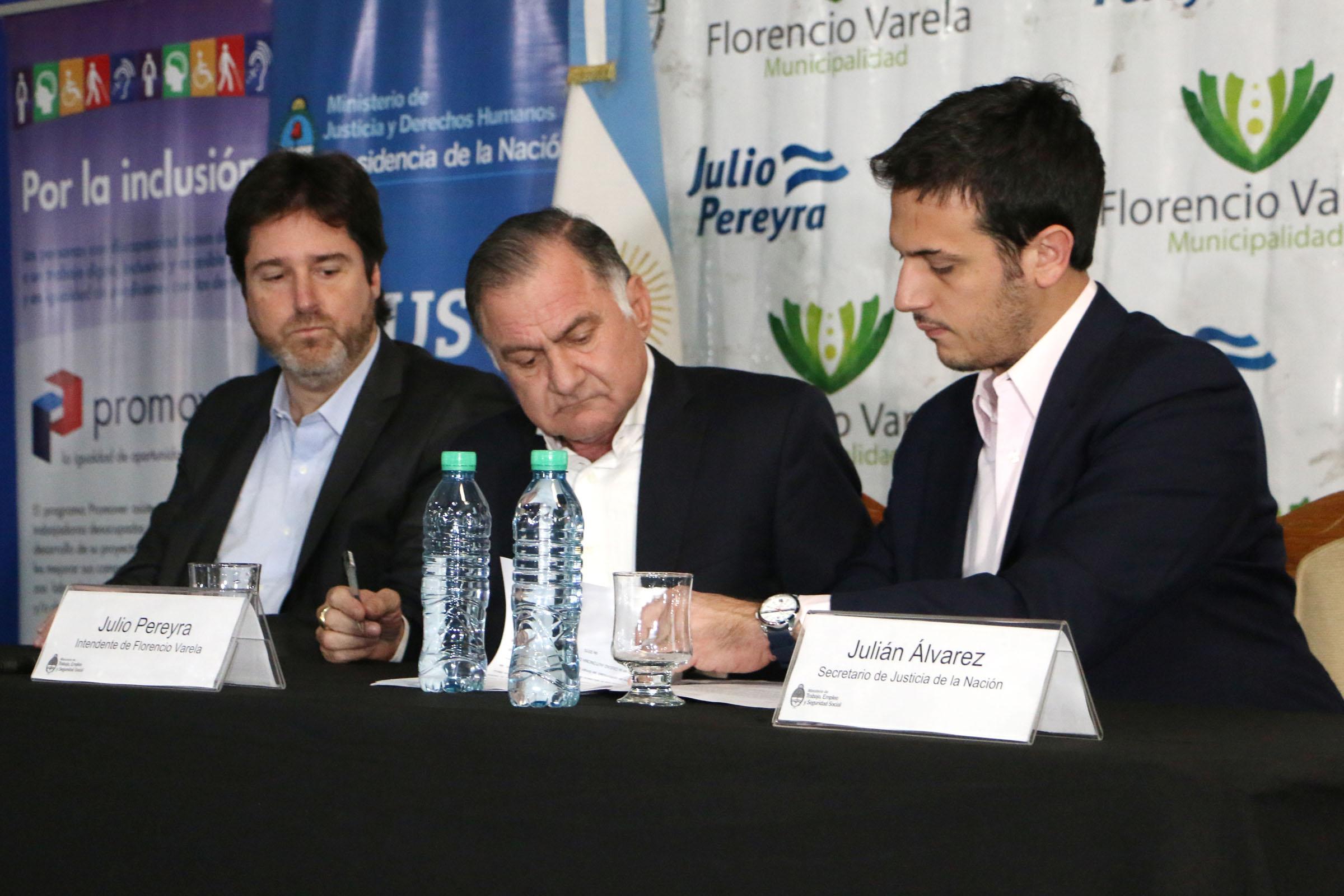 Acuerdo con el Municipio de Florencio Varela para la inclusión laboral de egresados del SPF