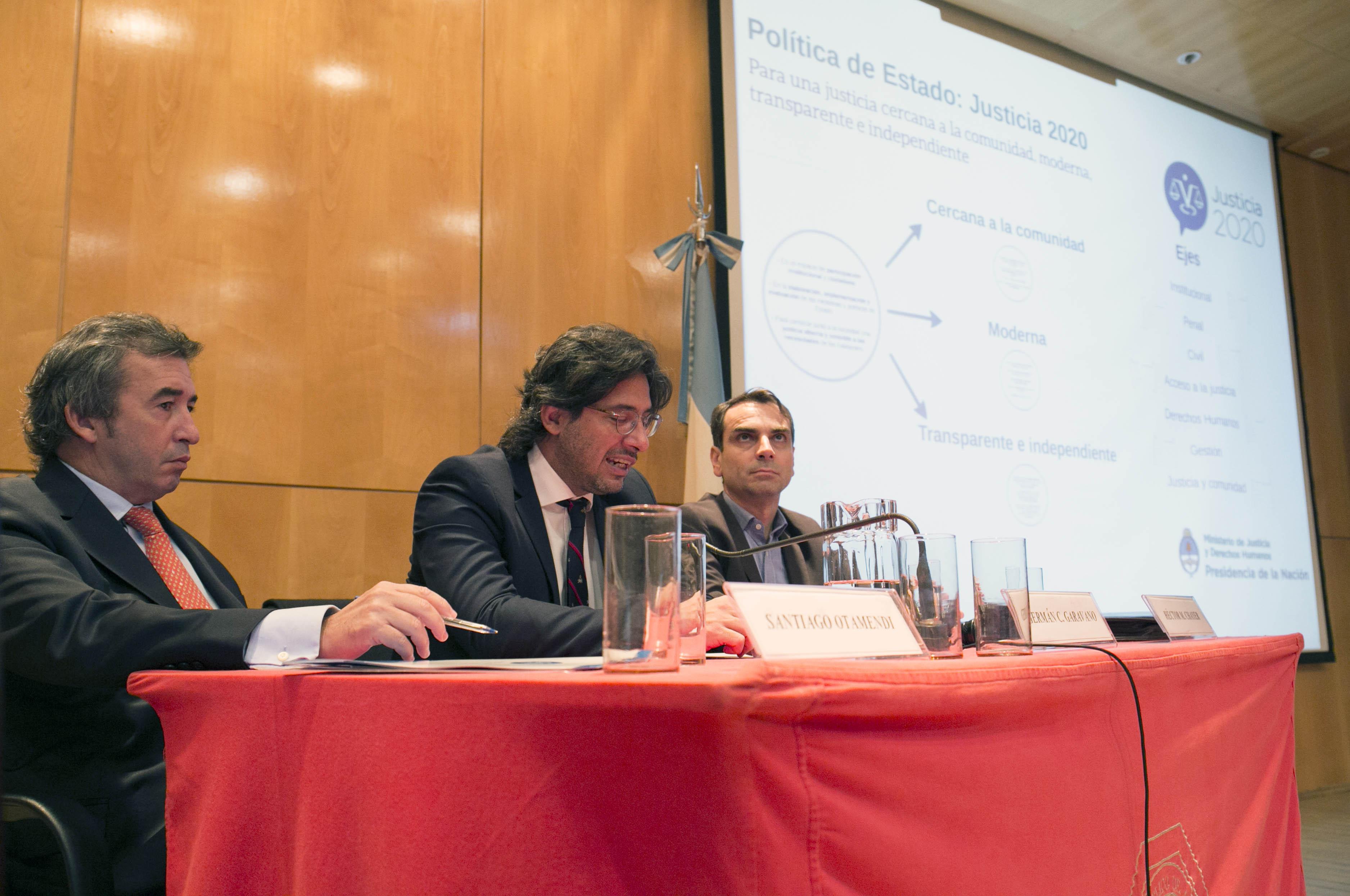 Se presentó Justicia 2020 en el Colegio Público de Abogados de Capital