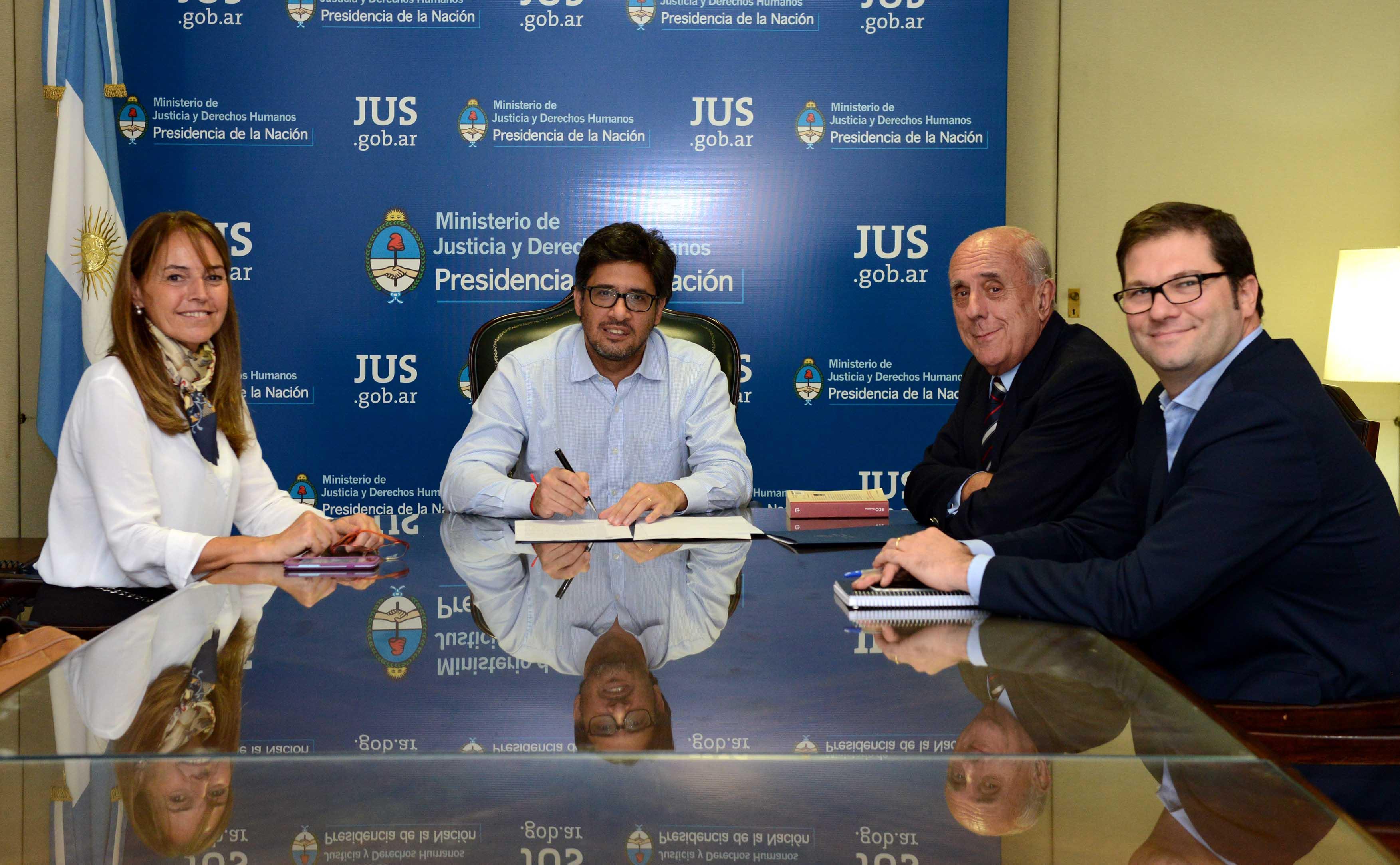 Garavano firmó un convenio de cooperación con la Asociación Argentina de Profesores de Derecho Procesal Penal