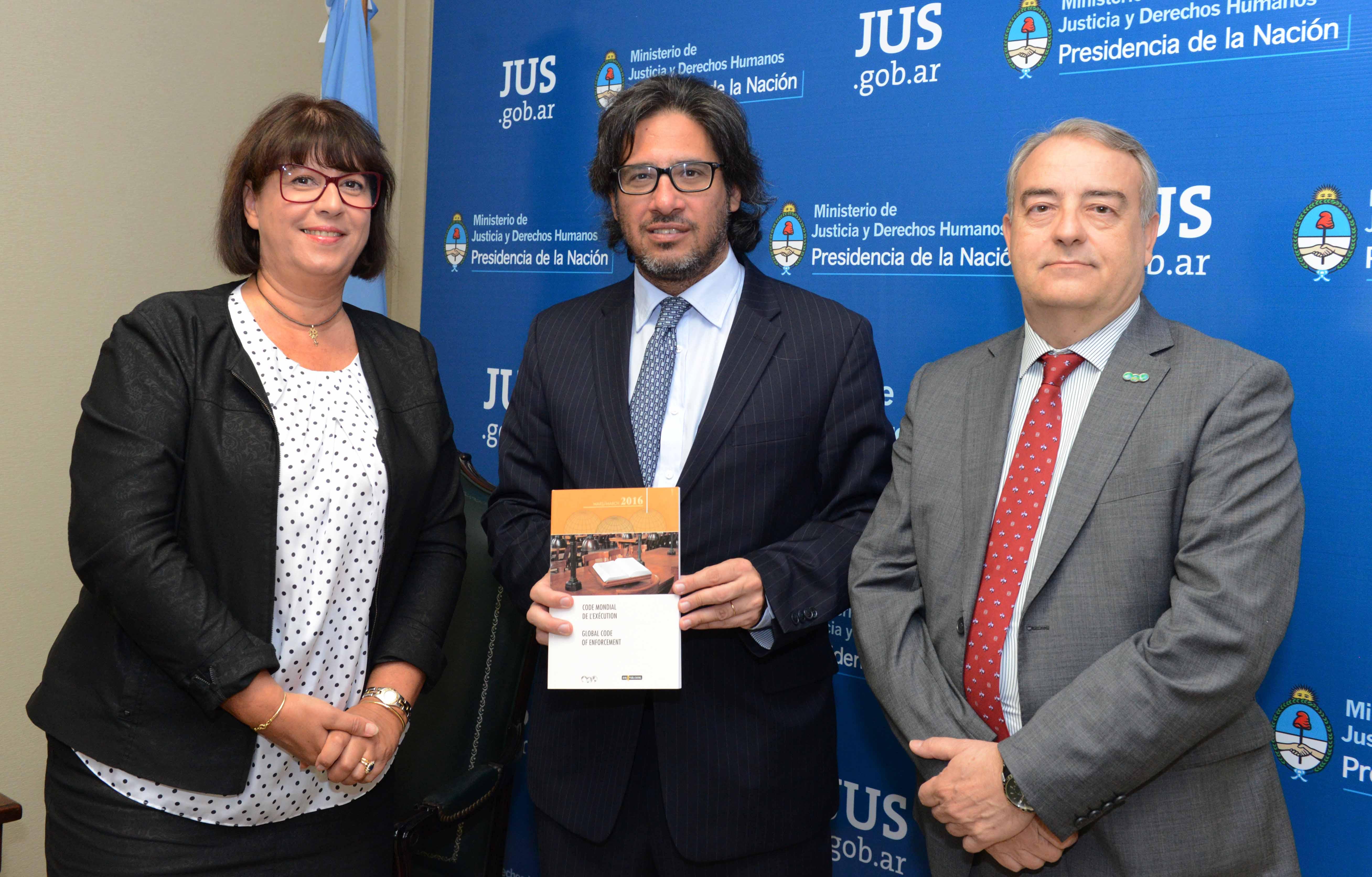 Garavano se reunió con autoridades de la Unión Internacional de Agentes Judiciales