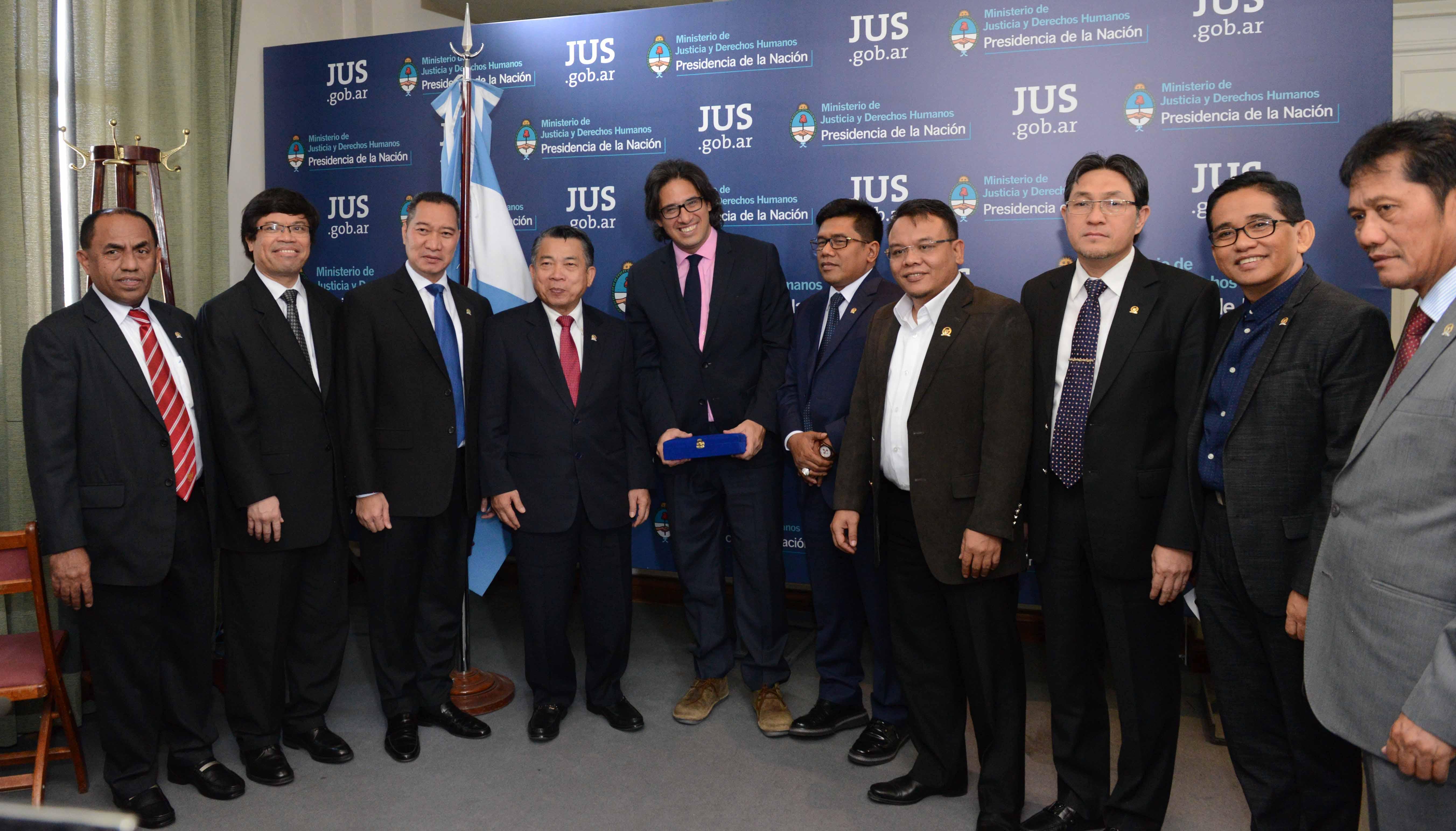 Garavano recibió a delegación de Diputados de Indonesia