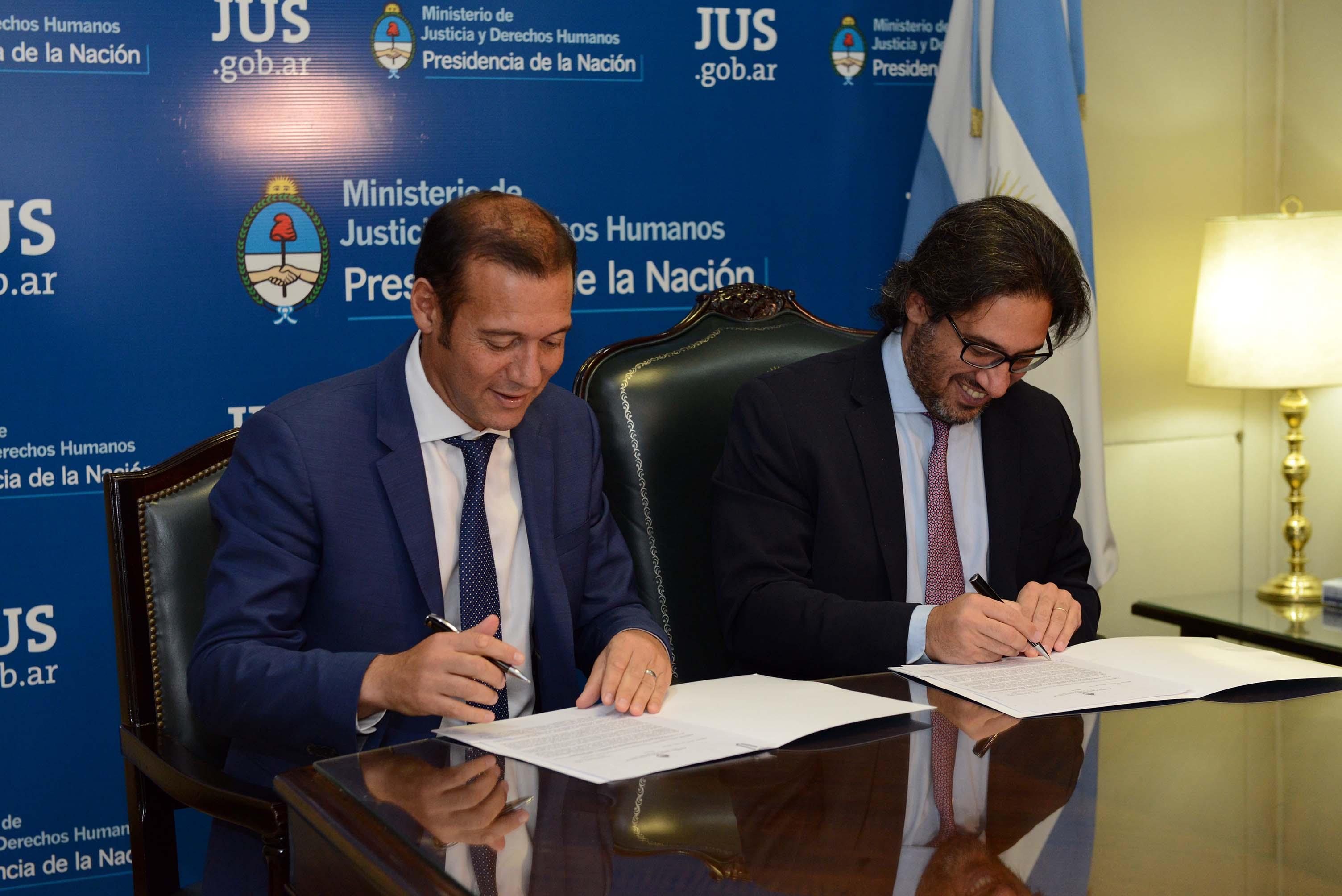 Garavano y Gutiérrez firman acuerdo para trasladar la Prisión Federal del Sur