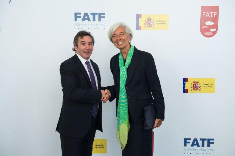 Otamendi se reunió con Christine Lagarde