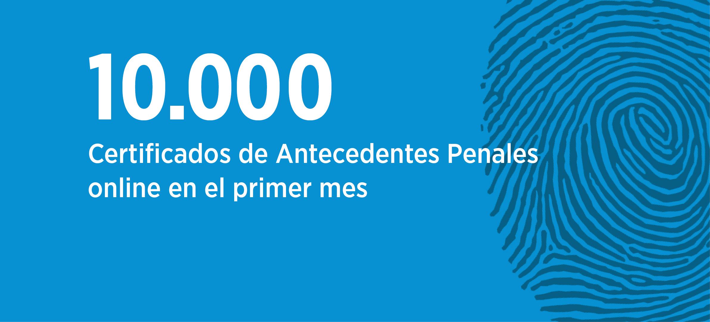 Trámite online: se realizaron 10.000 certificados de antecedentes en un mes