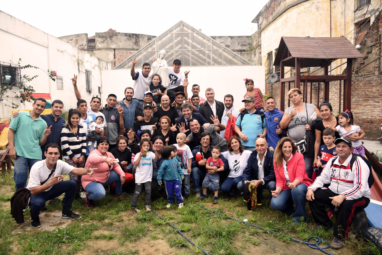 El DT de la Selección Argentina de Fútbol compartió una charla con jóvenes en conflicto con la ley penal