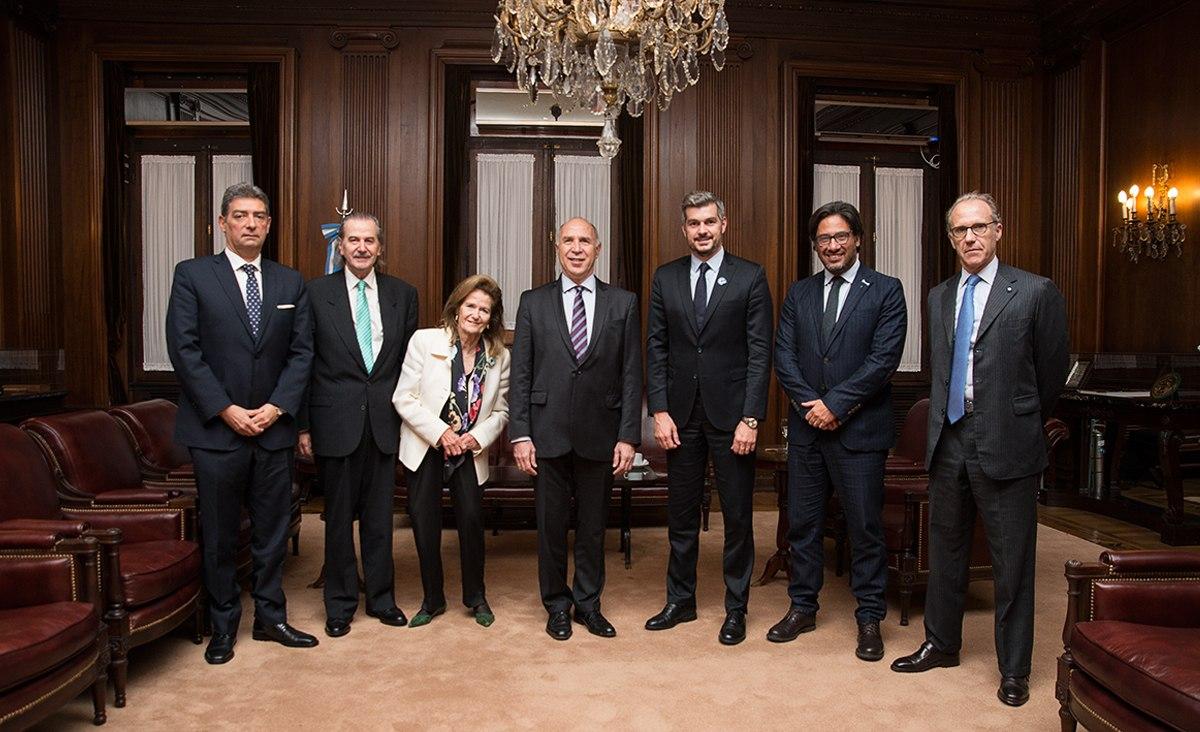 La Corte Suprema de Justicia recibió la visita de Marcos Peña y Germán Garavano